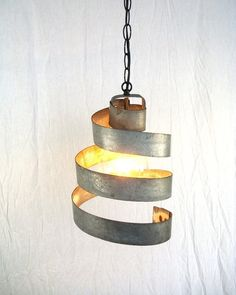 pendant lighting 2014 | custom pendant lighting: wine barrel ring hanging pendant light large ...