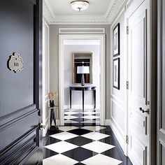 Interior design black white