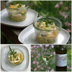 bushcooks kitchen: Le petit picnic en blanc: Fenchel-Mango-Salat mit Mozzarella und Räuchersaibling-Paté I #bordelicious