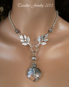 December Winter Fantasy Challenge...Dragonfly necklace made by Tavabee Jewelry