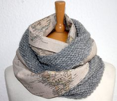 Are you a fan of travel and the beauty of different cultures and locales.? Express your passion for adventure, world issues, and fair-weather fashion with this woven infinity scarf. Inspired by my Austrian-Iranian upbringing I made this piece to express the sentiment that if youre happy with who you are youll feel at home wherever life takes you. This beautiful map motif is a strong look thats both contemporary and classic. The double-length design can be worn long or looped, Handmade in…