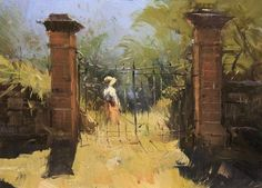 Colley Whisson A Tuscan Moment - Italy (06x09)  Sold