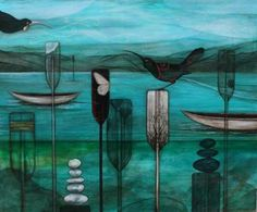 "Print :"" Calling me back"" Artist:Kathryn Furniss"