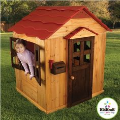 Kids love playhouses where adult rules don't exist. A fun place where they can be the master of their own house. Hours of playhouse fun are in order with this high quality, Outdoor Playhouse from KidKraft.