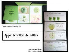 Fraction Apple Flip Up Booklet