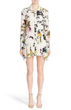 Roberto Cavalli Bird & Floral Print Silk Dress available at #Nordstrom