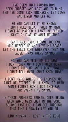 Linkin Park - lost in the echo <3 the lyrics