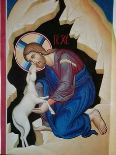 Lord, save me! Religious Pictures, Religious Icons, Religious Art, Good Shepard, The Good Shepherd, Byzantine Icons, Byzantine Art, Roman Church, Christian Artwork
