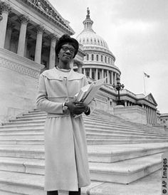 Shirley Chisholm, First African American Female in Congress Shirley Chisholm, Black History Facts, History Projects, Important People, Running For President, Women In History, American History, Black Women, African