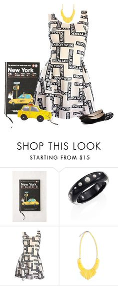 """""""Put into Words Contest Entry"""" by tracy-gowen ❤ liked on Polyvore featuring Urban Outfitters, Alexis Bittar, TAXI and Verali"""