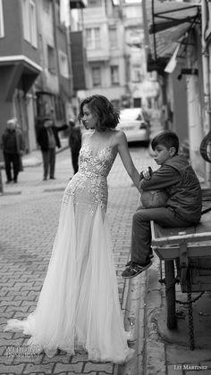 ea3cc5fda57 liz martinez 2019 bridal spaghetti strap diamond neckline heavily  embellished bodice romantic soft a line wedding dress open scoop back  chapel train (3) mv