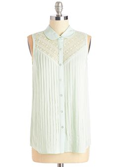 Blouses - Winsome in the Willows Top in Mint