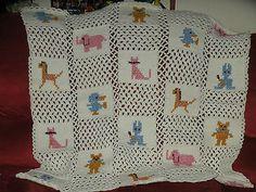 Crochet Baby Animal Pattern Afghan Handmade