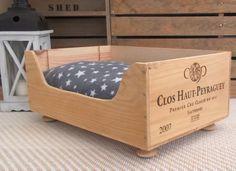 Wine crate cat bed  Chateau Haut-Peyraguey by BaxterandSnowwinebox