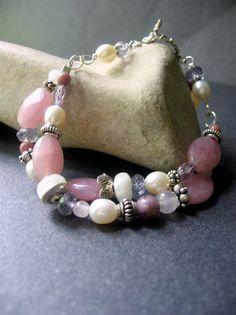 Gemstone Beaded Bracelet - Hanna Bracelet