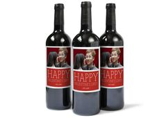 Photo gift idea: Custom photo wine labels at Pinhole Press. What a great hostess or friend gift for Valentine's Day.