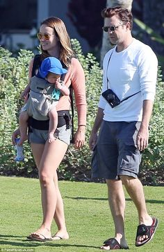 Chasing the sun: Olivia Wilde looked like she was enjoying her relaxing break in Hawaii with fiancé Jason Sudeikis and their son, Otis, on Sunday