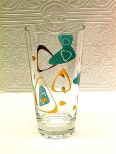 Vintage Amoeba Boomerang Tumbler Retro Federal Glass Atomic Eames Era Midcentury | eBay