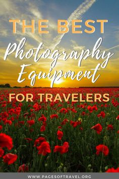 Looking into purchasing some new camera equipment? This list of travel photography gear is perfect for those starting out in photography or a seasoned pro. www.pagesoftravel.org