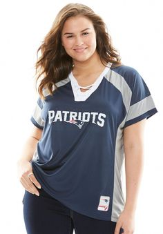 Lace-up NFL Tee - Women s Plus Size Clothing  improveyoursoccergame Plus  Size Women 6ea892a16