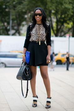 Fierce Leopard. Spring 2014, New York Fashion Week - Best Street Style Looks
