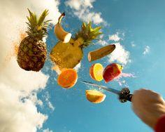Real life Fruit Ninja Ninja, Real Life, Pineapple, Fruit, Photography, Aikido, Food, Gaming, Twitter