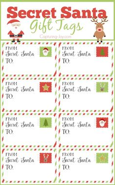 Secret Santa Gift Tags for Christmas and tips for an effective gift exchange