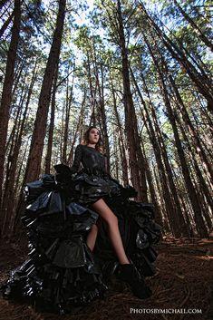 Trash The Dress (The garbage bag dress shoot)