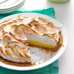 Buttermilk Lemon Meringue Pie Recipe -For lemon lovers everywhere, this wonderful pie with a little tang beats lemon meringue every time, no contest. Compliments roll in whenever I serve it. Lemon Desserts, Lemon Recipes, Pie Recipes, Dessert Recipes, Lemon Meringue Pie, Butter Pie, Peanut Butter, Biscuits And Gravy, Sweet Tarts