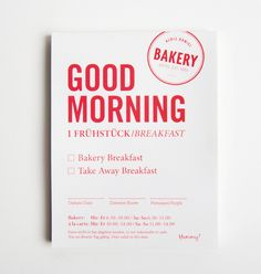 Logo and breakfast menu designed by Moodley for Vienna and Graz based luxury hotel Daniel
