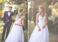 Maigre - Wedding dress/ Veil/ Backless/ Tulle/ Lace/ Beaded/Sequins/ Bouquet/ Silk/ Embroidery/ Corset/ Low-cut/ Trash The Dress