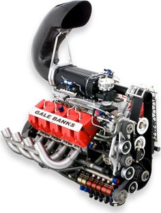 The All-NEW Supercharged engine designed by Banks to propel the Sidewinder Top Diesel Dragster into the future!
