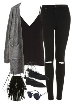 """""""Untitled#4674"""" by fashionnfacts ❤ liked on Polyvore featuring Topshop, Raey, Office and Yves Saint Laurent"""