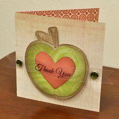 Teacher Thank you Card | Silhouette blog