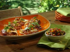 Grilled Hot and Sweet Sausage Tacos with Apricot-Jalapeno Glaze, Grilled Pepper and Red Onion Salsa ... Very delicous!!!!