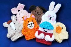 Old MacDonald Finger Puppets/ beginner / KNITTED pattern