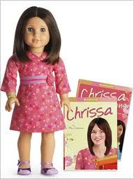 American Girl - Chrissa. Remember when we got her? Just a day apart? Or how we said you were like Gwen, I was like Chrissa, and Rachael was like Sonali?