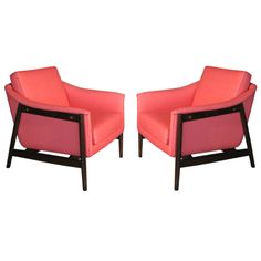 Pair Folke Ohlsson Swedish Lounge Chairs c.1950's