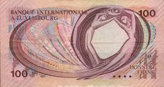 Luxembourg, 100 Francs Banknote, 1981. (reverse)