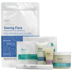The saving face kit helps prep skin for life's big moments with skyn ICELAND's essentials to keep skin healthy, glowing and younger-looking. #scandinavianbeauty #douglas #skincare