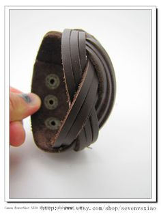 Fashion Adjustable Brown  PU Leather and Alloy by sevenvsxiao, $7.00