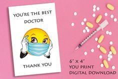 Nurse Thank You Card, Instant download Favor Tag, You print Thank You Card , Nurse and Doctor gift card Print Thank You Cards, Printable Thank You Cards, Thank You Tags, Diy Shops, Doctor Gifts, Good Doctor, Favor Tags, Diy Party, Party Printables