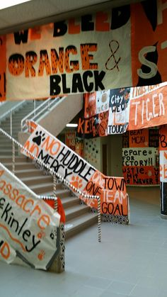 Massillon High School-- Our high school has the same exact colors and sign structure~ Alma High School School Spirit Posters, High School Posters, School Spirit Days, Cheer Posters, Volleyball Posters, Football Posters, Football Signs, Soccer Poster, Sports Posters