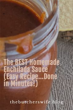 Easy Homemade Enchilada Sauce!  Done in minutes, easy recipe or all Mexican Dishes! Best Enchiladas, Homemade Enchiladas, Mexican Dishes, Mexican Food Recipes, Vegetarian Recipes, Best Enchilada Sauce, Main Dishes, Side Dishes, Salad Sauce