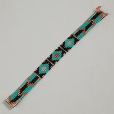 Tribal Arrows Bead Loom Bracelet  Artisanal Jewelry by PuebloAndCo