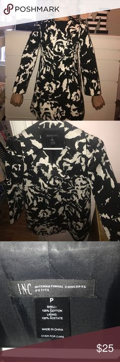 INC jacket Black and white INC  jacket. Only worn a couple of times. INC International Concepts Other