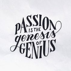 Passion id the genesis of genius by Mark van Leeuwen