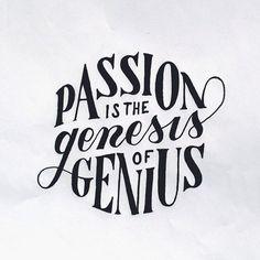 Passion id the genesis of genius by Mark van Leeuwen