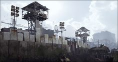 Swamp fort by JuavT   Fan Art / Digital Art / 3-Dimensional Art / Games   Post-Apocalyptic Concept Settlement