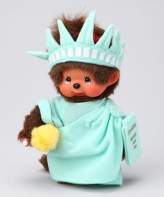 Statue of Liberty #Monchhichi. Repin if you were/are a Monchhichi fan!  Now I really miss my Moon Chow Chow's (as Mom called them) :)